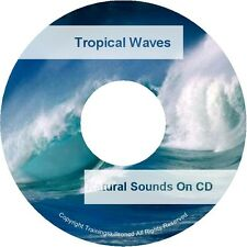 Natural Sounds TROPICAL WAVES WATER BEACH Nature Relaxation Sleep Aid Audio CD