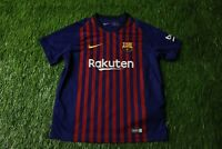 BARCELONA BARCA SPAIN 2018/2019 FOOTBALL SHIRT JERSEY HOME NIKE ORIGINAL KIDS L