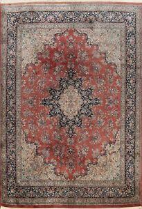 Vintage Floral Ardakan Traditional Handmade Area Rug Wool Oriental Carpet 9'x12'