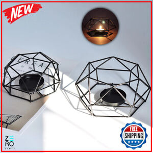 New Geometry Metal Black Small Tealight Candle Holders Aritist Craft Home Decor