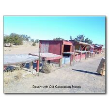"""*Postcard-""""Desert With Old Food/Fruit Empty Concession Stands"""" (B362)"""