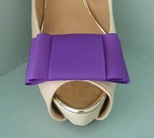 2 Purple Large Double Bow Clips for Shoes - other colours on request