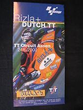 Flyer Rizla+ Dutch TT ( Assen ) 24 June 2000 (TTC)
