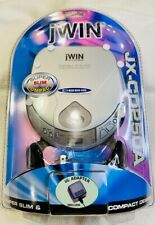 JWIN CD250A Super Slim Compact Portable CD Player Metallic UL Adapter 2001 New