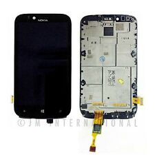 Nokia Lumia 822 LCD Display Touch Screen Glass Digitizer Assembly Black + Frame
