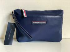 NEW! TOMMY HILFIGER NAVY BLUE NYLON WALLET CLUTCH BAG POUCH WRISTLET $48 SALE