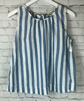 MADEWELL Womens' Blue White Striped Tank Top Size Small