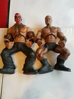 WWE RING GIANT DELUXE WRESTLING ACTION FIGURES LARGE WRESTLERS X2 WWF TNA