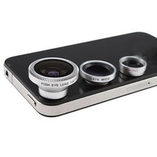 3x Camera Lens Kit For iPhone 4 4S iPad Fish Eye Lens Wide Angle + Micro Lens BT