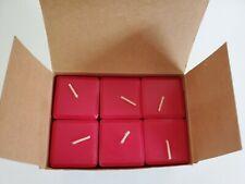 Unused PartyLite Six Scent Plus Square Votive Candles Cherry Orchard Cerise Love