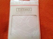 WHITE HOLD UP NET PATTERN STOCKINGS BY TIFFANY  RETRO / VINTAGE - PRETTY! BNWT