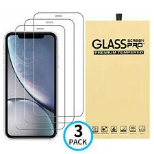 3-Pack De Vidrio Templado Protector de pantalla cubierta para iPhone 12 11 Pro Max XS XR X