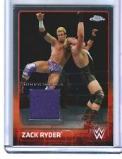 WWE Zack Ryder 2015 Topps Chrome Event Used Shirt Relic Card Purple DWC