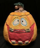 "Blue Sky Clayworks Halloween ""JACK  O LANTERN"" COOKIE JAR/CANISTER EUC 2018"