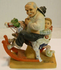 Vintage Danbury Mint Norman Rockwell Porcelain Gramps at the Reins Figurine