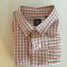 Dockers Mens XL Red White and Blue Window Check Long Sleeve Shirt