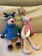 """20"""" Rudy the Red Nosed & 16"""" Tassel Reindeer Deer Bath & Body Works Plush"""