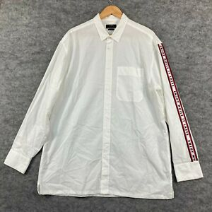 Zara Mens Button Up Shirt Size L Large White Long Sleeve Collared Relaxed 258.21