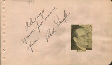 Vintage RED INGLE Autograph - 1938