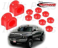 Prothane 4-1138 Front Sway Bar 34mm & End Link Bushing Kit Dodge Ram 94-05 Poly