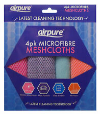 Airpure 4 Pack microfibre multi-usages meshcloths chiffon DUSTER micro fibre