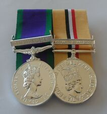 GSM, Service, Northern Ireland, Iraq Op Telic, Clasp, Mounted Medals, Full Size