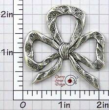 Ox Silver Plated Brass 1450so2 2 Large Scroll Bow Stampings