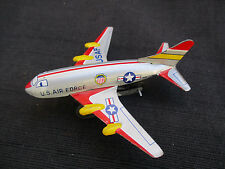 VINTAGE 1950s-1960s JAPAN SMALL TIN FRICTION TOY U.S. AIR FORCE JET AIRPLANE