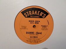 "STRAKER'S 12"" SINGLE RECORD/ CLYMAX/ SOCA MUSIC/ DIANNE BROOKLYN, NY DISCO/VG"