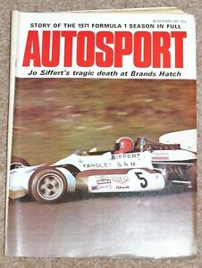 Autosport 28/10/71* 1971 F1 REVIEW - JO SIFFERT TRIBUTE - RALLYING FEATURE