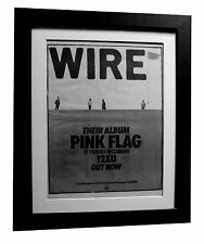 WIRE+Pink Flag+LP+POSTER+AD+QUALITY FRAMED+RARE ORIGINAL 1977+FAST GLOBAL SHIP