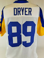 Fred Dryer Unsigned Custom Sewn White/Yellow Football Jersey Size - L, XL, 2XL