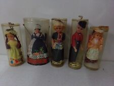 Lot of 5 Vintage Celluloid Dolls in Boxes France, Cannes, Poland, Holland x 2