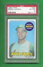 1969 Topps #260 Reggie Jackson **** ROOKIE **** PSA EX-MT 6 ** old baseball card