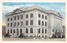 A6/ High Point North Carolina NC Postcard c1915 City Hall Building