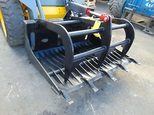 """NEW 48"""" ROOT TOOTH GRAPPLE UNIVERSAL ROCK SAND SKID STEER ATTACHMENT -"""