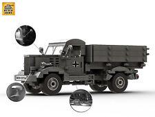WW2 German Opel Blitz Truck Car Custom Brick set +Instruction by Buildarmy® MOC