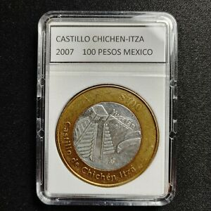 2007 MEXICO 100 PESOS BIMETALLIC COIN - YUCATAN CHICHEN-ITZA - RARE