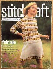 Vintage Stitchcraft Magazine. January 1967