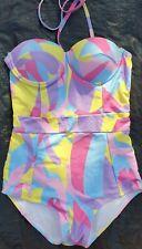 Brand New Swimming Costume Retro/Vintage Desgin Size 6 Multiway Straps