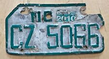 """PHILIPPINES PILIPINAS  2010  MOTORCYCLE CYCLE LICENSE PLATE """" CZ 5066 """""""