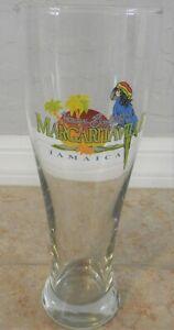 Tall Pilsner Beer Glass Jimmy Buffet's Margaritaville Jamaica Parrot Rasta HUGE