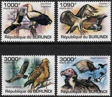 BIRDS OF PREY (Osprey/Wahlberg's Eagle/Vulture) Bird Stamp Set (2011 Burundi)