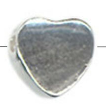 5 TINY SMALL STERLING SILVER HEART SPACER BEADS, 5 MM