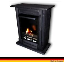 Chimenea Caminetti Fireplace Cheminee Etanol y Gel Madrid Premium Royal Negro