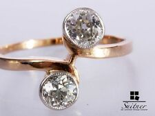 Art Deco Ring 585 Gold Diamanten zus. ca. 0,75 ct. Toi-et-Moi Gr. 55