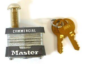 "Master Lock 443KA Keyed Padlock 3/8"" Shackle Dia Key 2001"