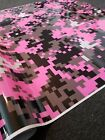 PINK DIGITAL CAMOUFLAGE Vinyl Wrap, Glossy, Vehicle Wrap for Car, Truck, & Boat