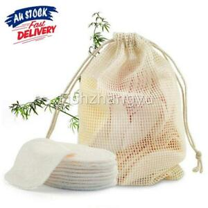 8~20pcs Reusable Makeup Remover Pads Soft Cotton Deep Cleansing Face Wipe