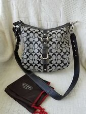 COACH ~ Signature Shoulder Bag Purse ~ Gray Black Monogram ~ Mint Condition